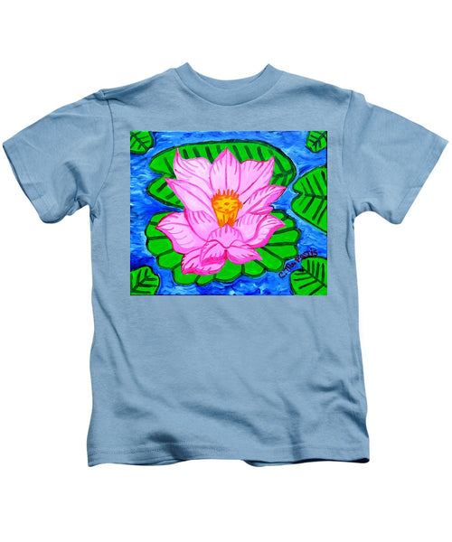 Pink Lotus Flower - Kids T-Shirt