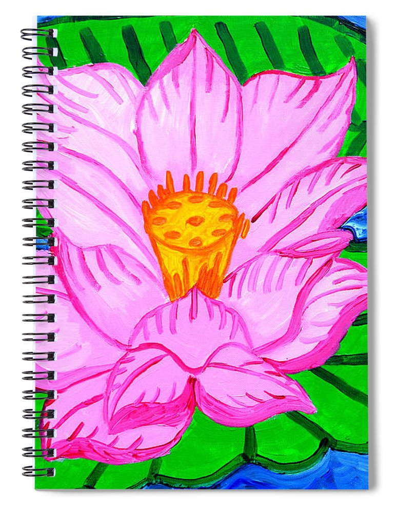 Pink Lotus Flower - Spiral Notebook