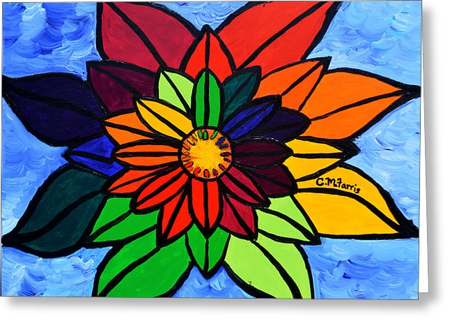 Rainbow Lotus Flower - Greeting Card