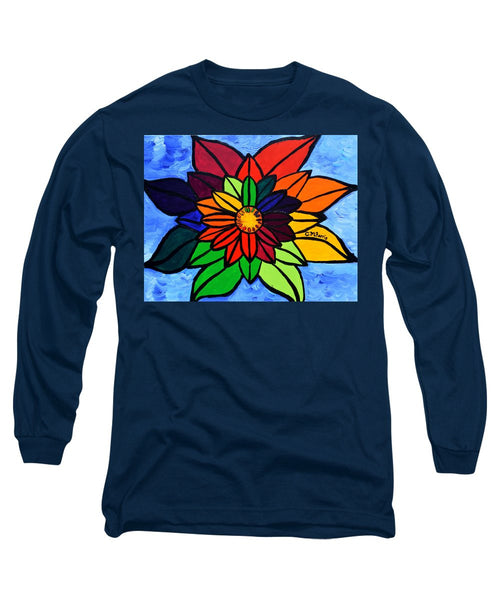 Rainbow Lotus Flower - Long Sleeve T-Shirt