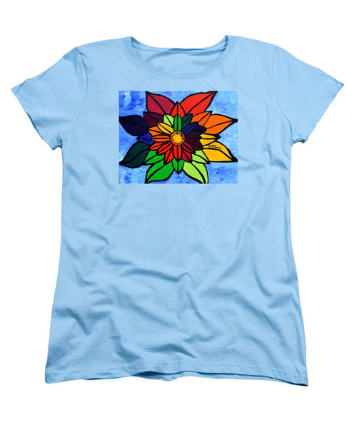 Rainbow Lotus Flower - Women's T-Shirt (Standard Cut)