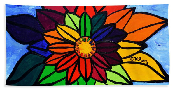 Rainbow Lotus Flower - Beach Towel