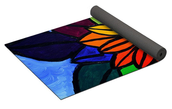 Rainbow Lotus Flower - Yoga Mat