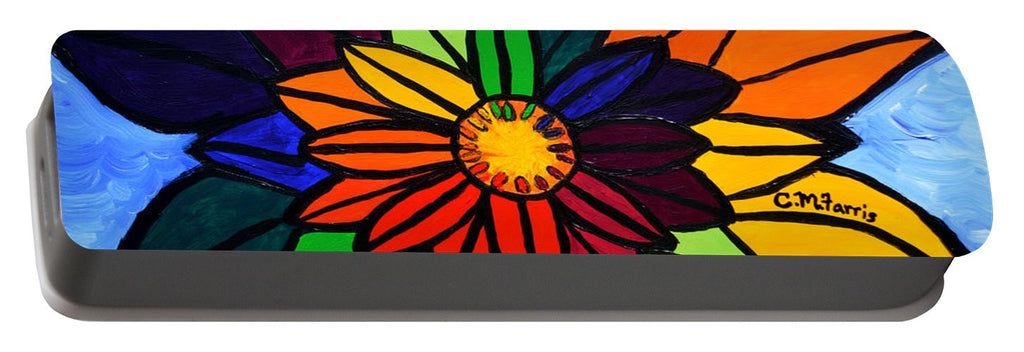 Rainbow Lotus Flower - Portable Battery Charger