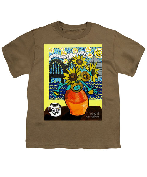 Sunflowers And Starry Memphis Nights - Youth T-Shirt