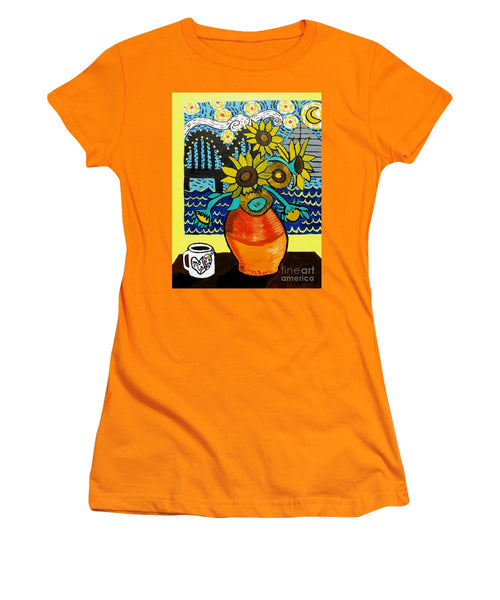 Sunflowers And Starry Memphis Nights - Women's T-Shirt (Athletic Fit)