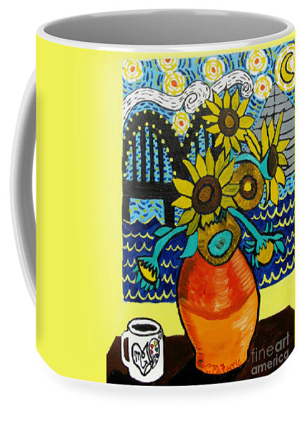 Sunflowers And Starry Memphis Nights - Mug