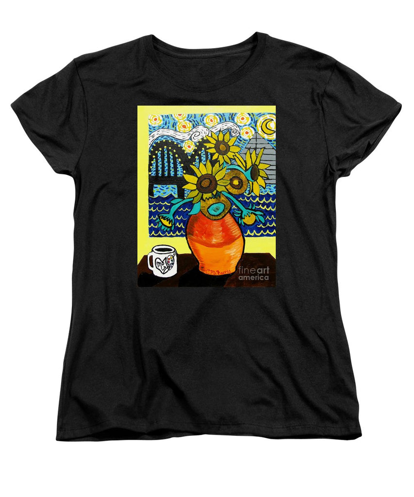 Sunflowers And Starry Memphis Nights - Women's T-Shirt (Standard Fit)