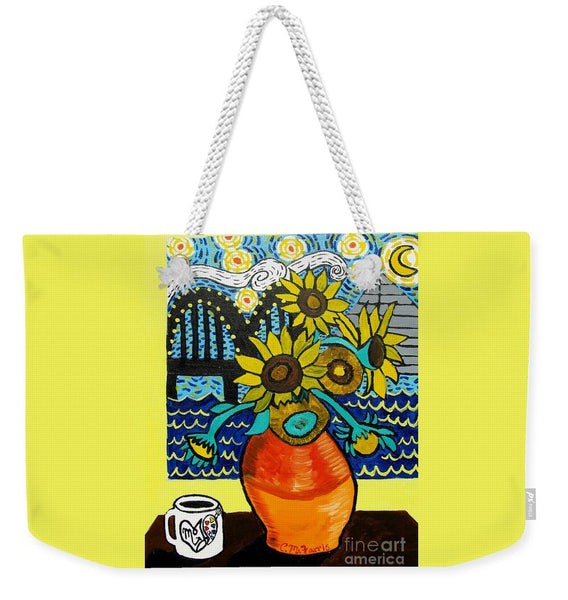 Sunflowers And Starry Memphis Nights - Weekender Tote Bag
