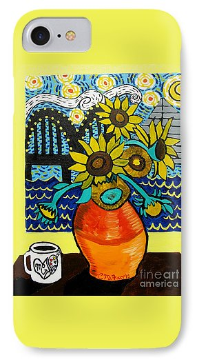 Sunflowers And Starry Memphis Nights - Phone Case