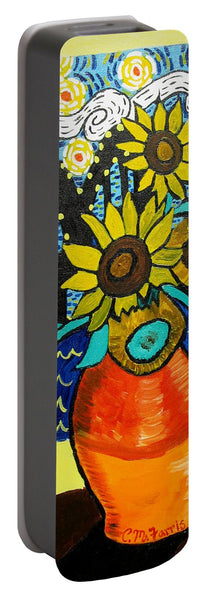 Sunflowers And Starry Memphis Nights - Portable Battery Charger