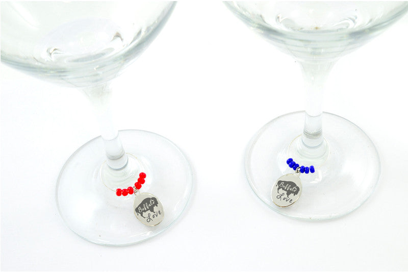 Wine Glass Charm Silver Plated
