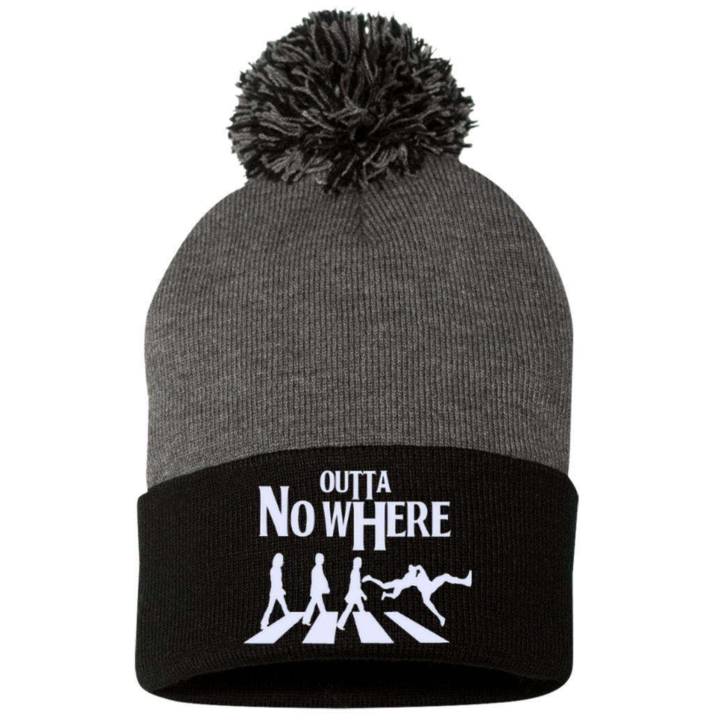 Outta No Where - Pom Pom Knit Cap, Hats, Teeplex City