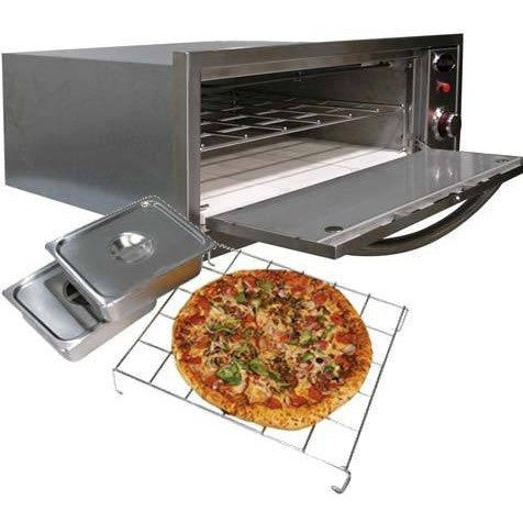 2-IN-1 OVEN-WARMER & PIZZA OVEN (110V) - Roundhouse Pizza Ovens, Countertop - Roundhouse Pizza Ovens, Cal Flame - Roundhouse Pizza Ovens, Roundhouse Pizza Ovens -  Roundhouse Pizza Ovens