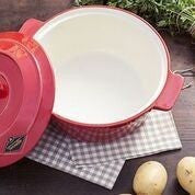 Fornetto Ceramic Dutch Oven with handles and lid - Roundhouse Pizza Ovens, Cookware - Roundhouse Pizza Ovens, Fornetto - Roundhouse Pizza Ovens, Roundhouse Pizza Ovens -  Roundhouse Pizza Ovens