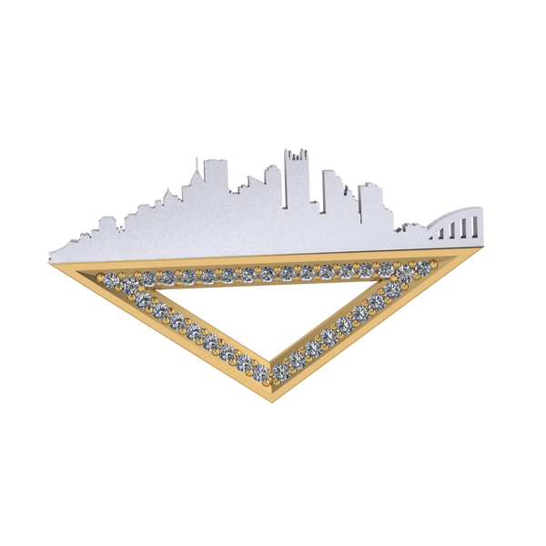 The  Pittsburgh Pin with Diamonds