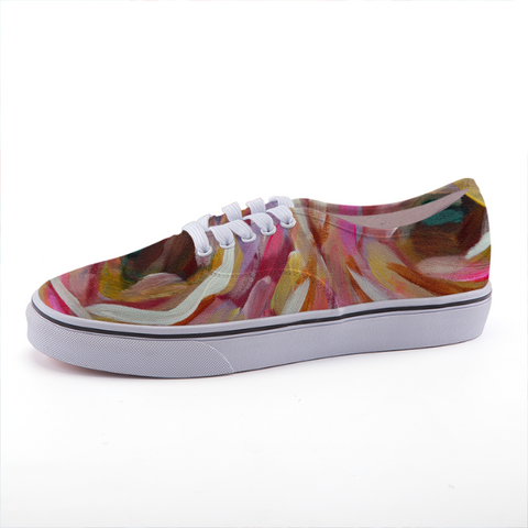 """Pink Posies"" Low-top fashion canvas shoes"