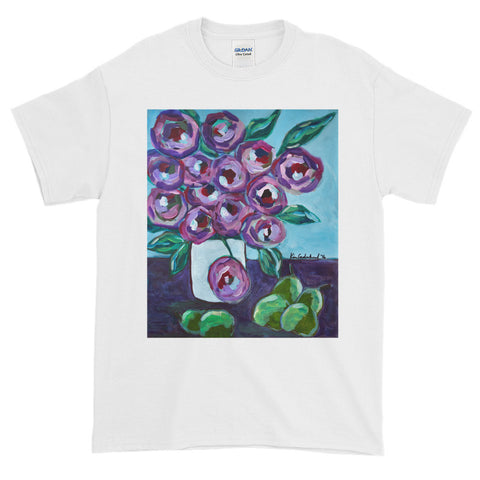 """Purple and Pears"" Short-Sleeve T-Shirt Plus Sizes up to 5XL"