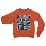 """Blue Abstract Floral"" Heavy Blend Crew Neck Sweatshirt"