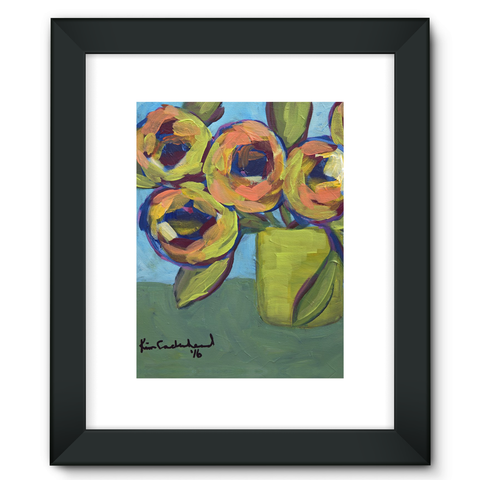 """Peaches and Green"" Framed Fine Art Print"
