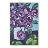 """Purple and Pears"" Stretched Canvas"