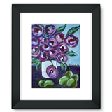 """Purple and Pears"" Framed Fine Art Print"