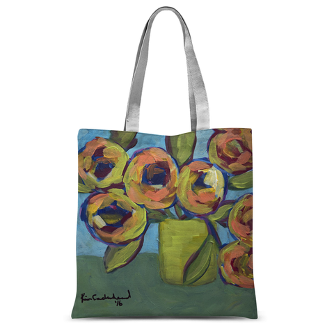 """Peaches and Green"" Tote Bag"