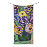 """Flowers and Coffee"" Beach Towel"