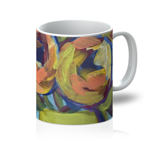 """Peaches and Green"" Mug"