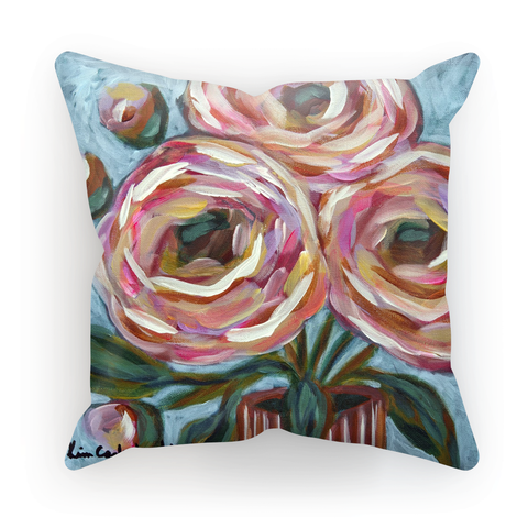 """Pink Posies"" Cushion"