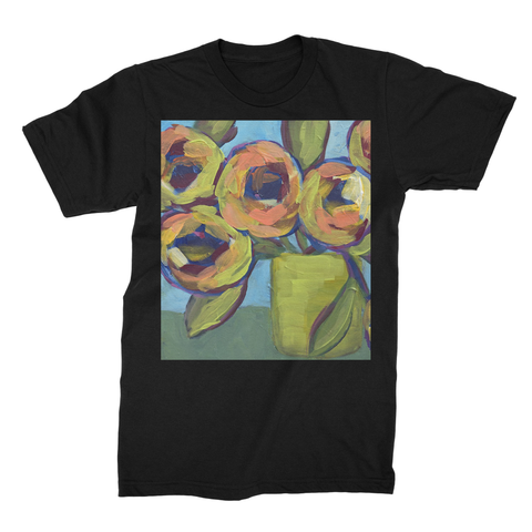 """Peaches and Green"" Unisex Fine Jersey T-Shirt"