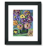 """Flowers and Coffee"" Framed Fine Art Print"