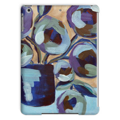 """Blue Abstract Floral"" Tablet Case"