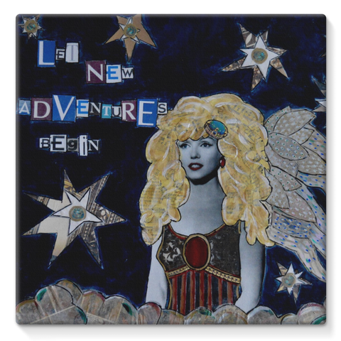 """Let New Adventures Begin"" Stretched Canvas"