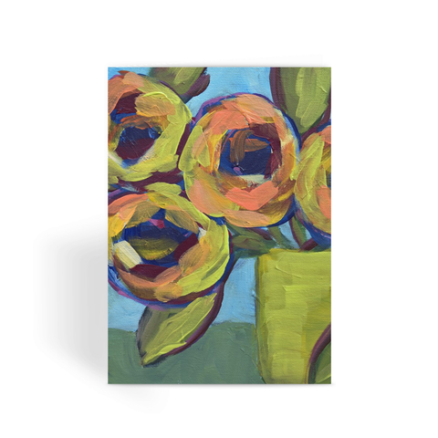 """Peaches and Green"" Greeting Card"