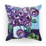 """Purple and Pears"" Cushion"