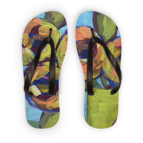 """Peaches and Green"" Flip Flops"