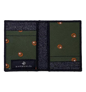 Peacock Ruffle - Tie Fold Wallet :: Narwhal Company