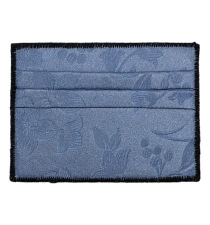 Blue Petals - Tie Rack Wallet :: Narwhal Company