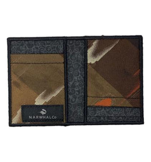 Brown Lilly - Tie Fold Wallet :: Narwhal Company