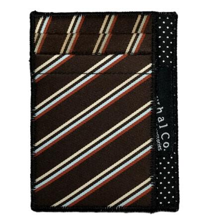 Pin Stripe - Tie Slim Wallet :: Narwhal Company