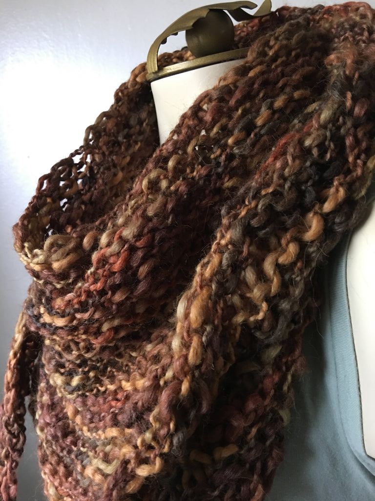 All Weather Shawlette | shades of brown