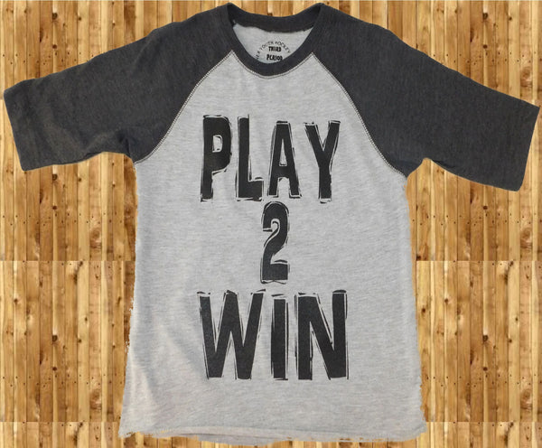 Play 2 Win vintage baseball tee - Third Period Apparel