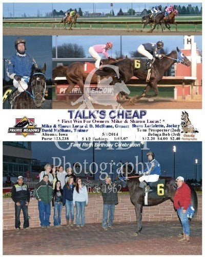 Talk's Cheap - 5/1/2014 - Race 4 - PRM
