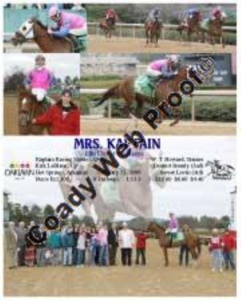 MRS. KAPTAIN  -   Elks Day at the Races  -  2 23 2