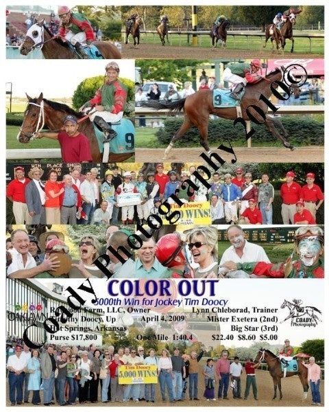COLOR OUT  -  5000th Win for Jockey Timothy Doocy