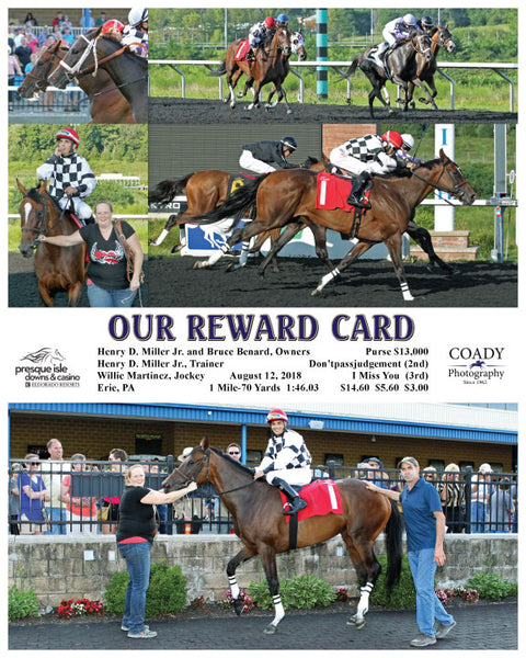OUR REWARD CARD  - 081218 - Race 03 - PID