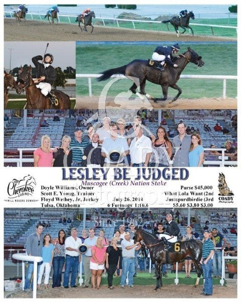 LESLEY BE JUDGED - 072614 - Race 07 - FMT