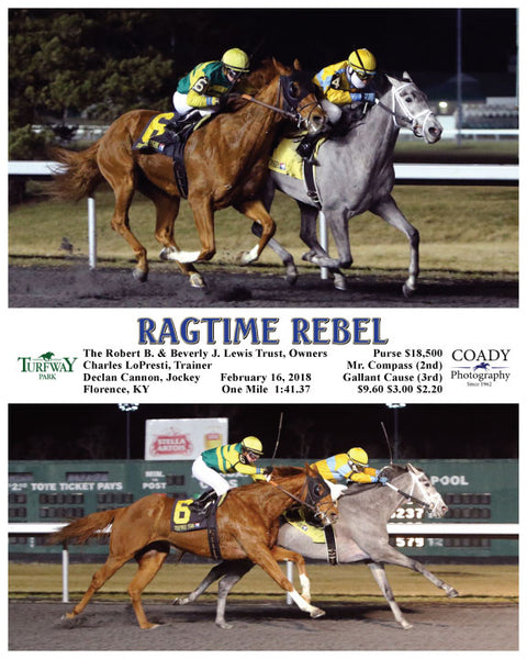 RAGTIME REBEL - 021618 - Race 07 - TP