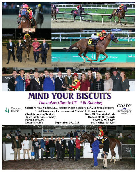 MIND YOUR BISCUITS - 092918 - Race 09 - CD